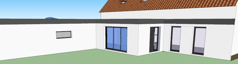 Extension maison toiture plate bac acier cheneau epdm for Extension maison 95