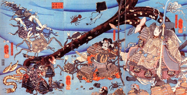 The Ghosts of the Taira's Clan (with, at the centre, the General Taira no Tomomori)