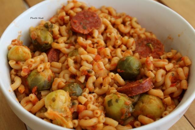 Coquillettes au Chorizo et Choux de Bruxelles (Cookeo ...