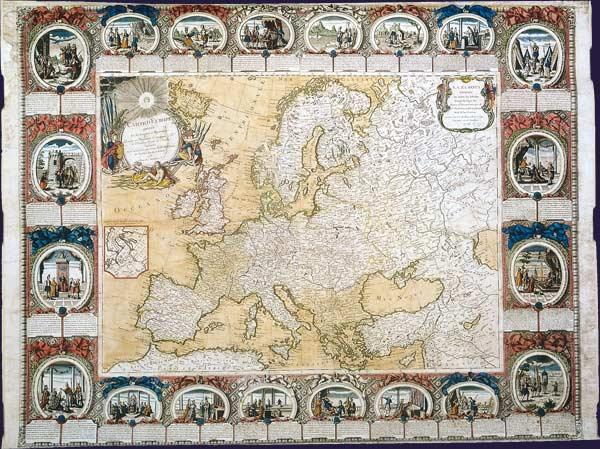 Carte d'Europe divisée en ses empires et royaumes, dressée par M. l'abbé Clouet, 1776.