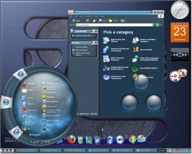 نظام التشغيل الثلاثى الأبعاد Windows XP-Turbo™ 3D SP3 2010