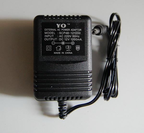 yo电源适配器 external ac power adaptor scp48-121200 12v 1200ma