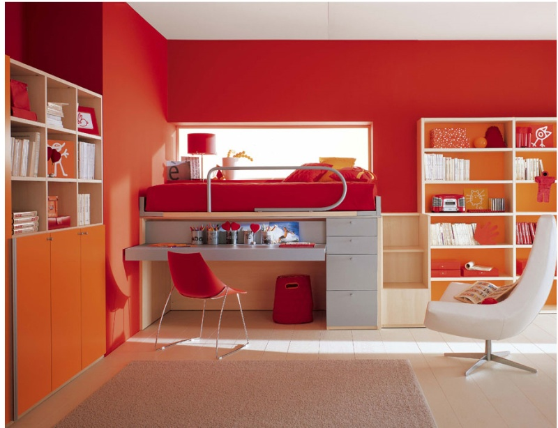 Chambre ado for Ideal home study room
