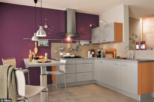 Cuisine helene page 1 for Peinture cuisine violet