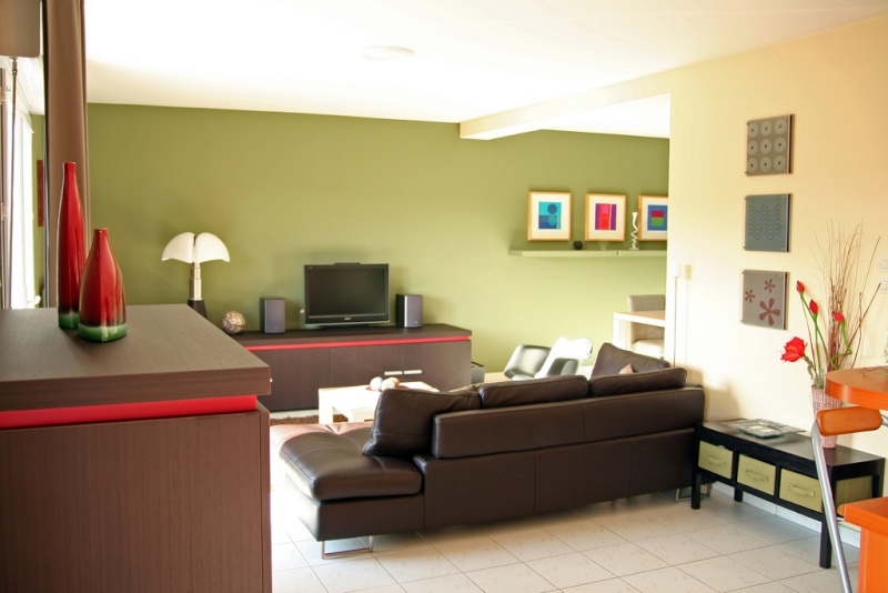 Best Salon Vert Olive Contemporary - Amazing House Design ...