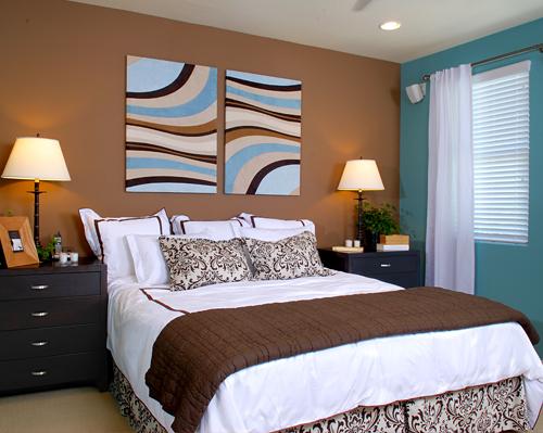 Relooking complet de notre chambre coucher - Quelle couleur va avec le bleu turquoise ...