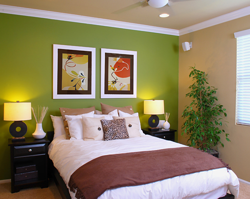 Awesome Decorer Chambre Adulte Vert Anis Pictures - Antoniogarcia