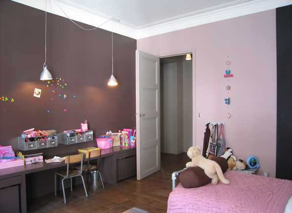 Chambre Fille Vieux Rose Et Taupe