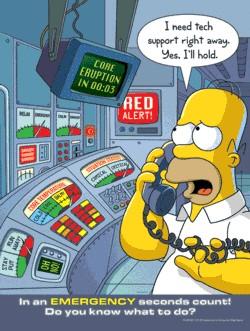 Carteles De Seguridad De Los Simpson