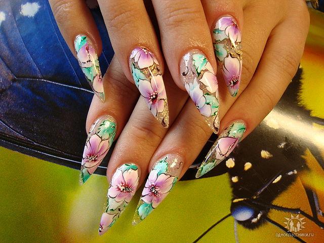 Фото нарощенных ногтей интересные