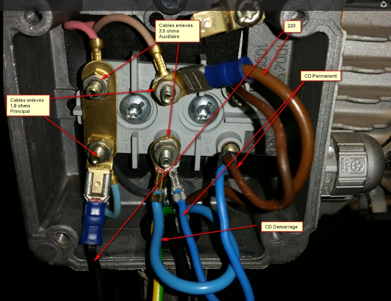 lurem c260e moteur mono condensateur permanent et de d ma forums de volta electricit. Black Bedroom Furniture Sets. Home Design Ideas