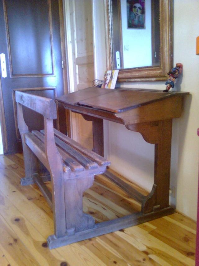 pupitre colier bois tr s bonne tat. Black Bedroom Furniture Sets. Home Design Ideas