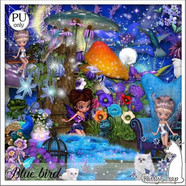 Blue bird de Kittyscrap dans Février kittys10