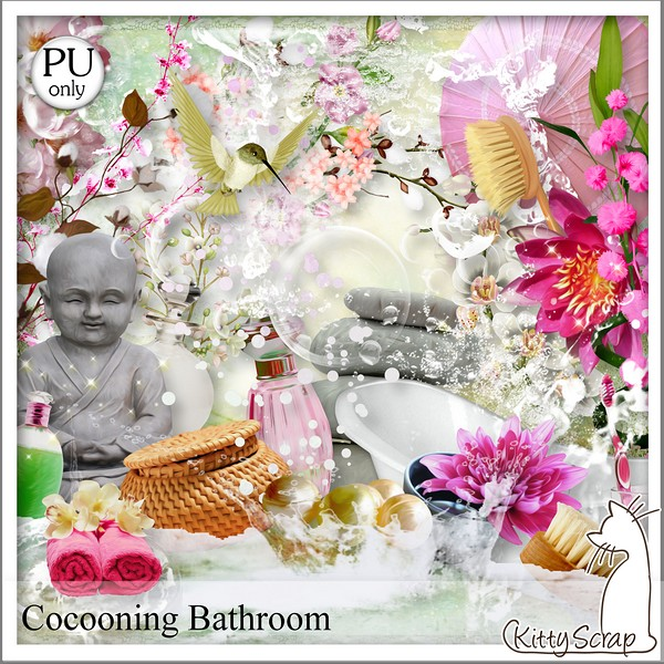 Cocooning bathroom de Kittyscrap dans Mars kittys24