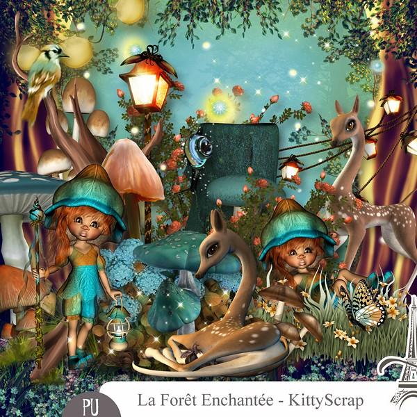 La forêt enchantée de Kittyscrap dans Février previe12