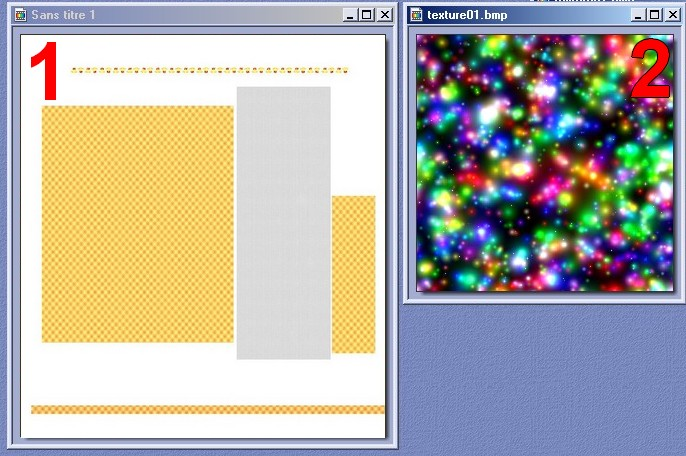 deux textures pour travailler
