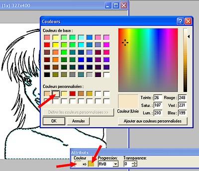 Sélectionnez les couleurs de remplissage