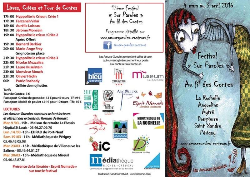 Festival Sur Paroles Au Fils Des Contes