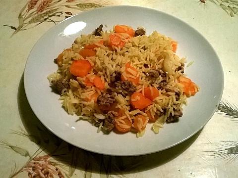 Riz boeuf carottes