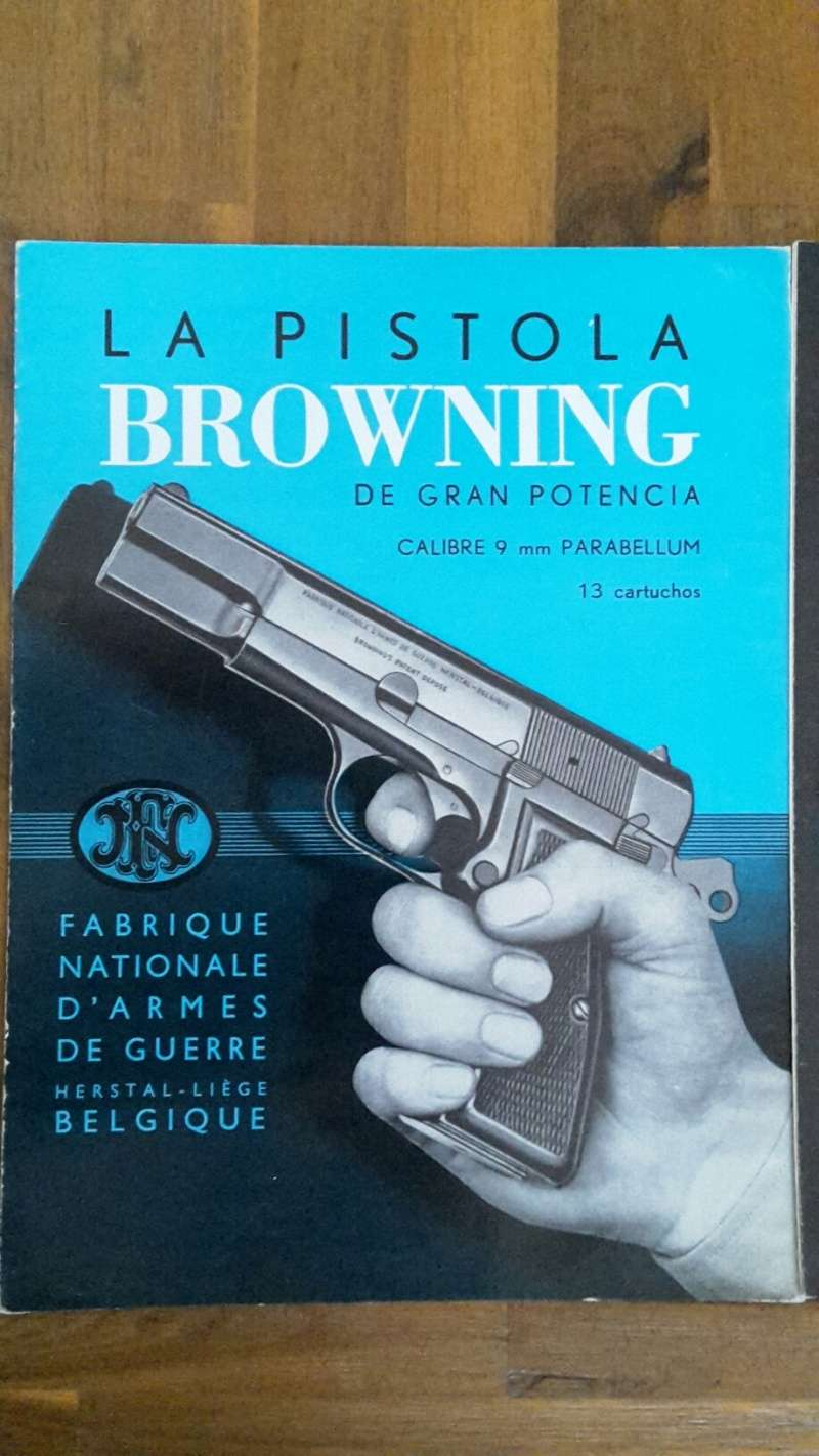 3 original FN Herstal Manuals (Hi-Power, Browning Baby and
