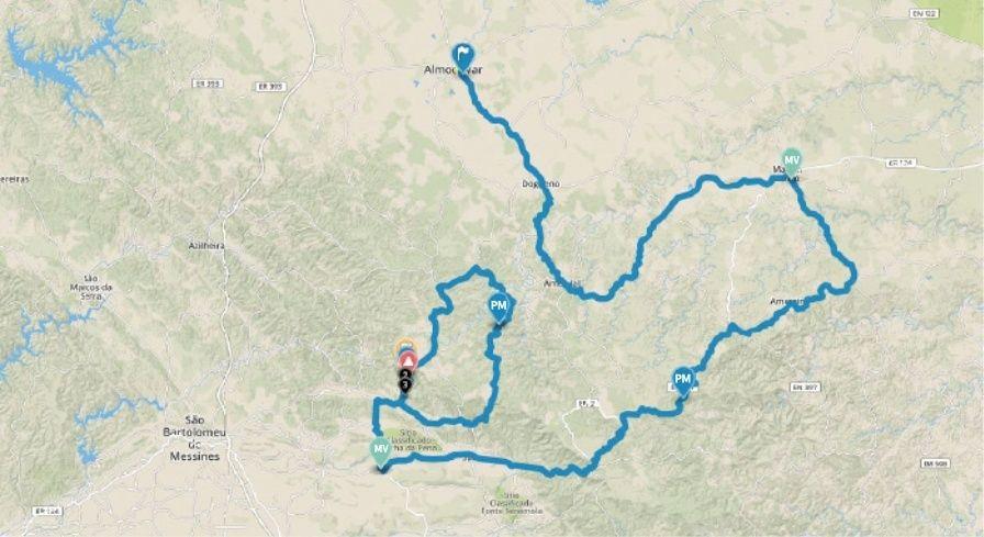 planimetria 2016 » 42nd Volta ao Algarve em Bicicleta (2.1) - 5a tappa » Almodôvar › Alto do Malhão (172.7 km)