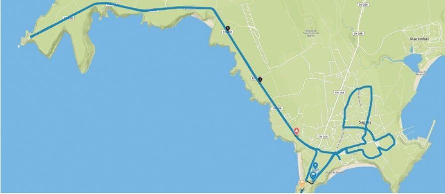 planimetria 2016 » 42nd Volta ao Algarve em Bicicleta (2.1) - 3a tappa » (ITT) » Sagres › Sagres (18 km)