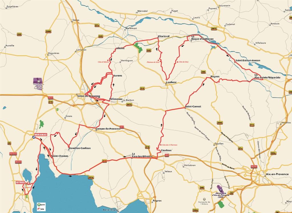 planimetria 2016 » 1st Tour Cycliste International La Provence (2.1) - 2a tappa »Miramas ›Istres (180 km)