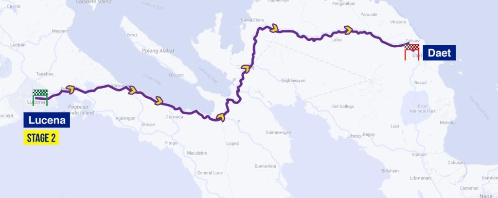 planimetria 2016 » 7th Le Tour de Filipinas (2.2) - 2a tappa»Lucena › Daet (208 km)