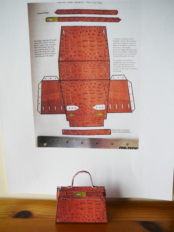 tuto un sac kelly pour fashion doll. Black Bedroom Furniture Sets. Home Design Ideas