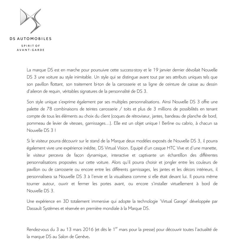 Les News de DS [Archives] - Page 2 - DS3Spirit com
