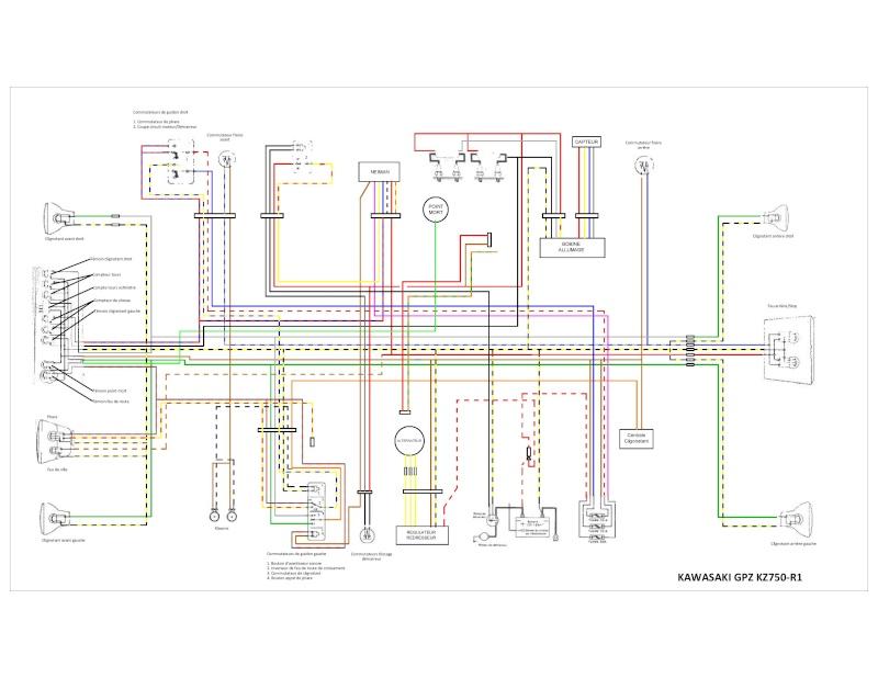 Schema Elettrico Kawasaki Z750 : Problème schèma faisceau electrique kz r