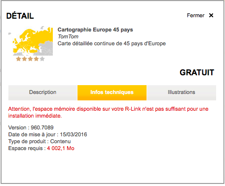 carte tomtom europe pour rlink 1 gratuite en ce moment m gane m gane rs renault forum. Black Bedroom Furniture Sets. Home Design Ideas