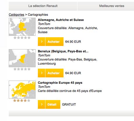 carte europe 960 r-link