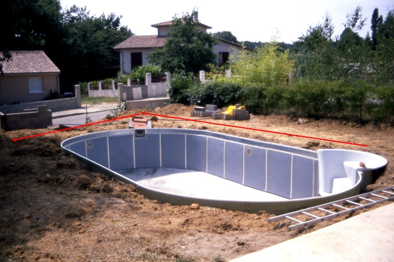 Construction piscine w sur terrain en pente for Piscine terrain en pente