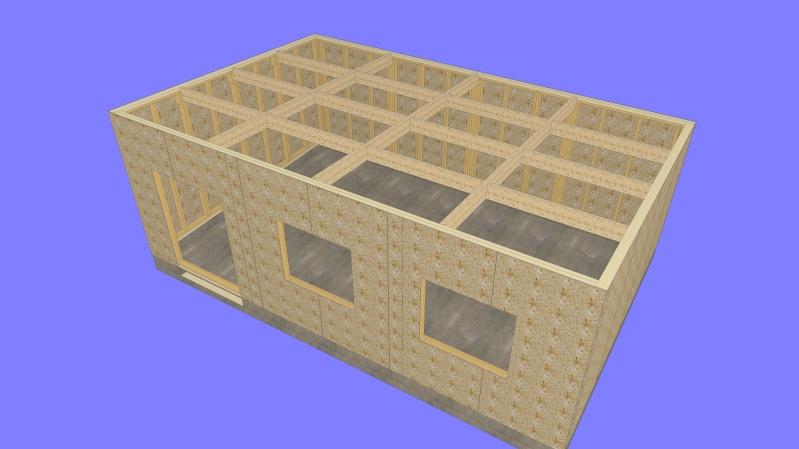 Construction d 39 un nouvel atelier en ossature bois for Osb exterieur pluie
