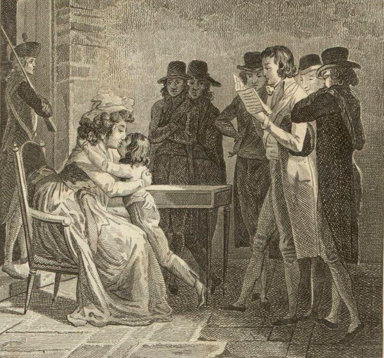 """Résultat de recherche d'images pour """"séparation Louis XVII de sa famille estampe"""""""