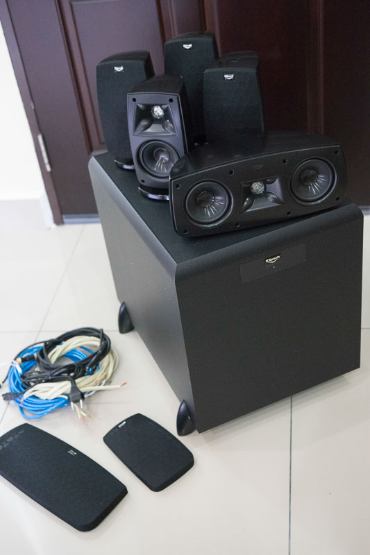 klipsch quintet iv satellite sw 450 sub woofer 5 1. Black Bedroom Furniture Sets. Home Design Ideas
